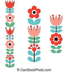 El finlandés inspiró largos patrones de arte folclórico... al estilo nórdico y escandinavo