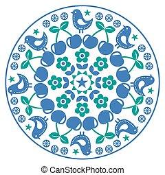 El finlandés inspiró un patrón de arte folclórico escandinavo, estilo nórdico