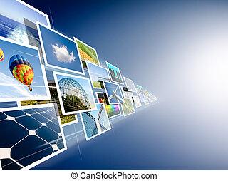 El flujo de imágenes