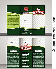 El folleto de la pizzería