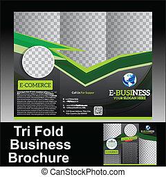 El folleto de negocios del Vector