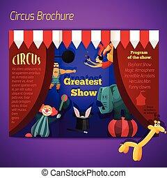 El folleto del circo