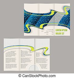 El folleto del folleto tri-pliegue con imágenes de gota de agua