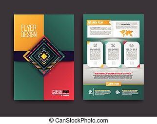 El folleto del vector abstracto moderno