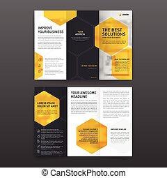 El folleto farmacéutico tri pliegue