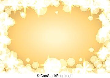 El fondo brilla oro