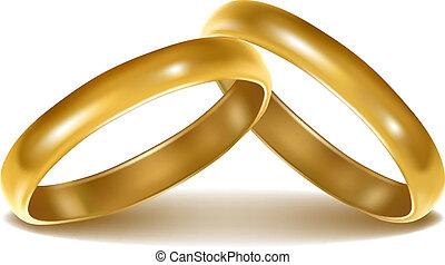 El fondo con anillos de boda