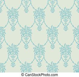 El fondo con elementos florales abstractos
