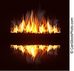 El fondo con una llama ardiendo
