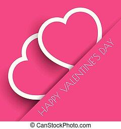 El fondo de corazones de San Valentín rosado