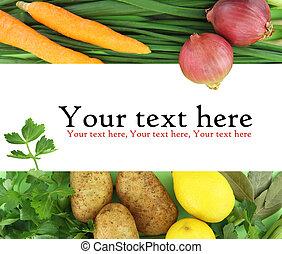 El fondo de las verduras frescas