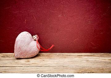 El fondo de San Valentín con corazones.