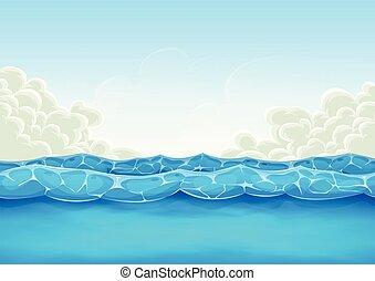 El fondo del océano de verano para el juego de Uui