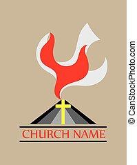 El fuego de la paloma iglesia del espíritu santo