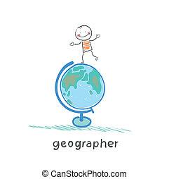 El geógrafo está en el globo