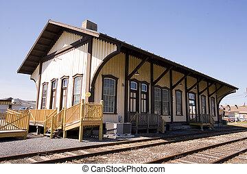 El giro de la estación de tren del siglo