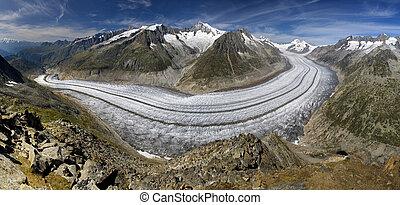 El glaciar Aletsch - suizos alps