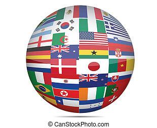 El globo de las banderas