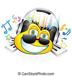 el gozar, música, smiley