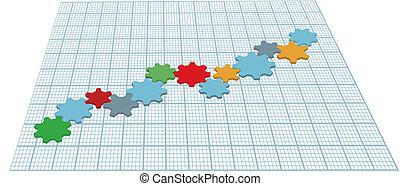 El gráfico de crecimiento tecnológico de Gears