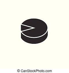 El gráfico de iconos. Negocios. Ilustración de vectores. Graphic. Sobre fondo blanco