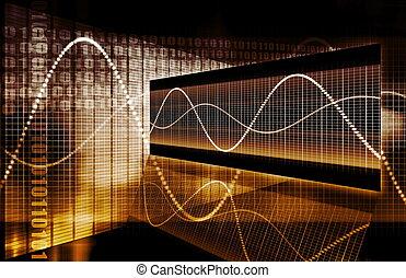 El gráfico de la tecnología de cálculo