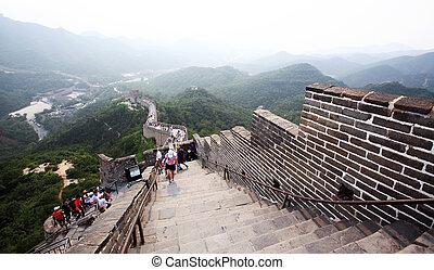 El gran muro en la mala educación cerca de Beijing