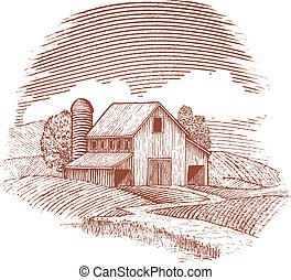 El granero de Woodcut