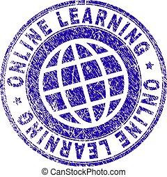 El grunge texturó ONLINE aprendiendo sello de sello