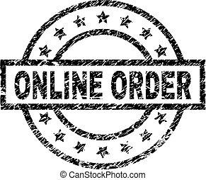 El grunge texturó ONLINE orden sello de sello