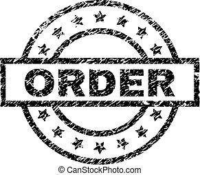 El grunge texturó orden de sello de sello