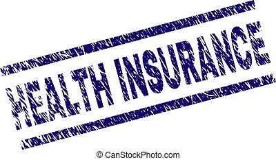 El grunge texturó sello de seguro de salud