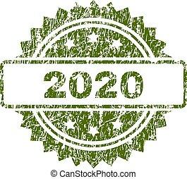 El grunge texturó sello de sello 2020