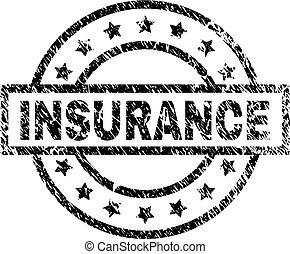El grunge texturó sello de sello de seguridad de seguros
