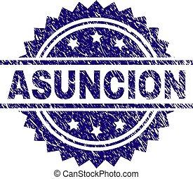 El grunge texturó sello de sello de sello de sello ASUNCION