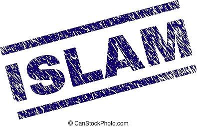 El grunge texturó sello de sello ISLAM
