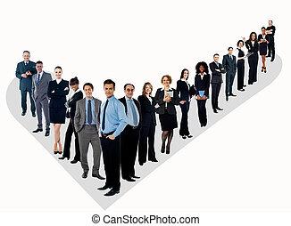 El grupo perfecto de gente de negocios
