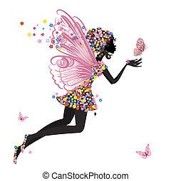 El hada de las flores con mariposa