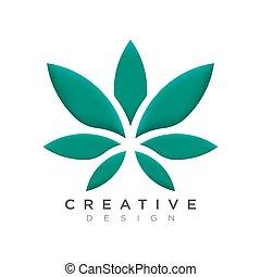 El hermoso diseño de hojas de abtrak puede ser usado como marca o etiqueta