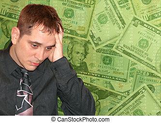 El hombre con problemas de dinero