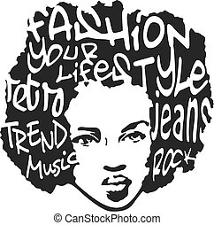 El hombre de la moda usa diseño de arte