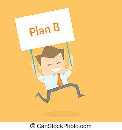 El hombre de negocios activa una nueva estrategia