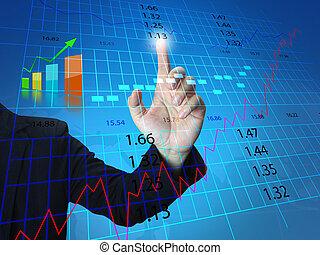 El hombre de negocios de la bolsa de valores
