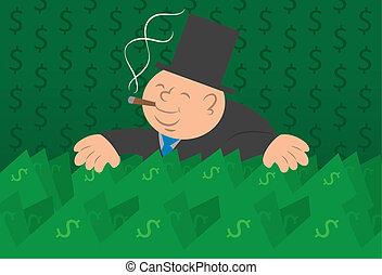 El hombre del dinero en efectivo