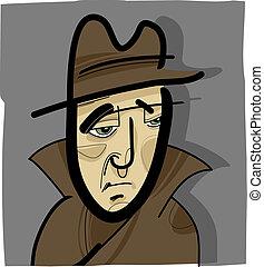 El hombre del sombrero ilustra