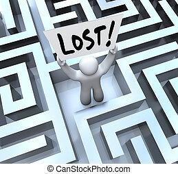 El hombre perdido tiene señal en laberinto de laberinto