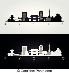 El horizonte de Kyoto y las siluetas