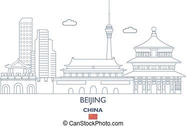 El horizonte de la ciudad de Beijing, China