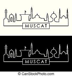 El horizonte de la ciudad de Muscat.