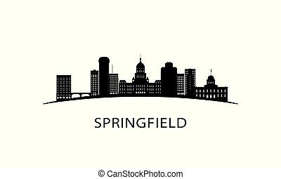 El horizonte de la ciudad de Springfield.